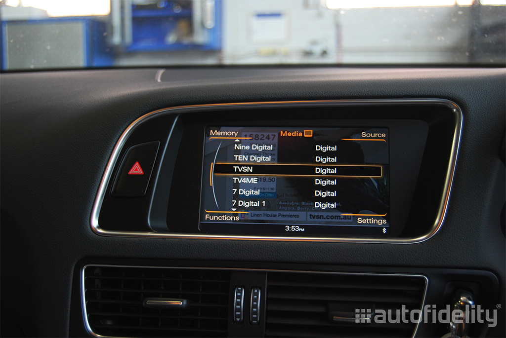 Integrated TV Tuner Retrofit to Audi MMI System For Audi A4