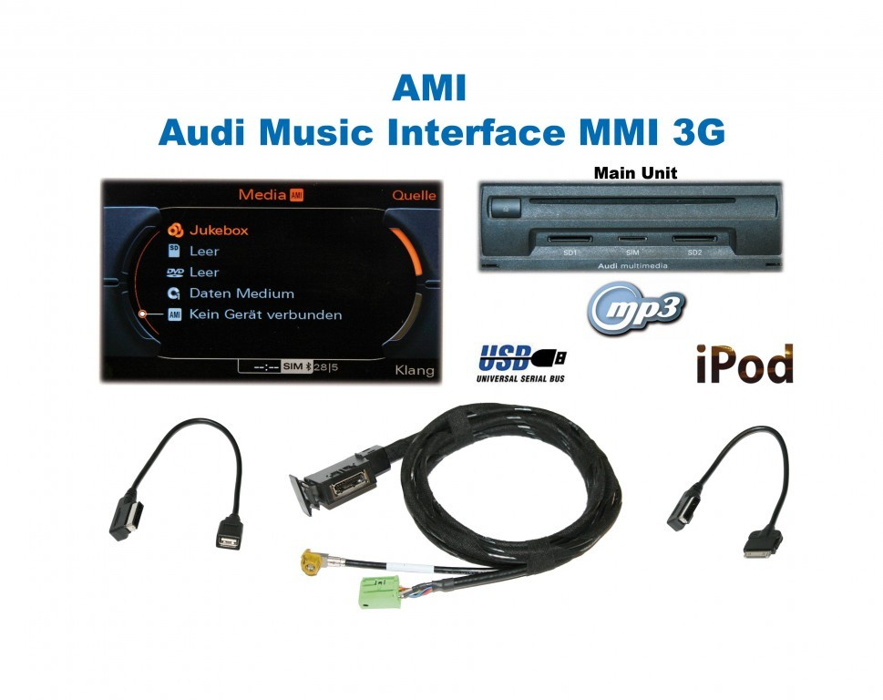 audi music interface with ipod iphone connectivity for 3g. Black Bedroom Furniture Sets. Home Design Ideas
