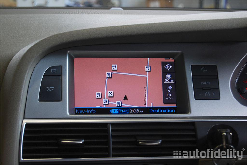 2g mmi dvd based satellite navigation system for audi q7 4l autofidelity. Black Bedroom Furniture Sets. Home Design Ideas
