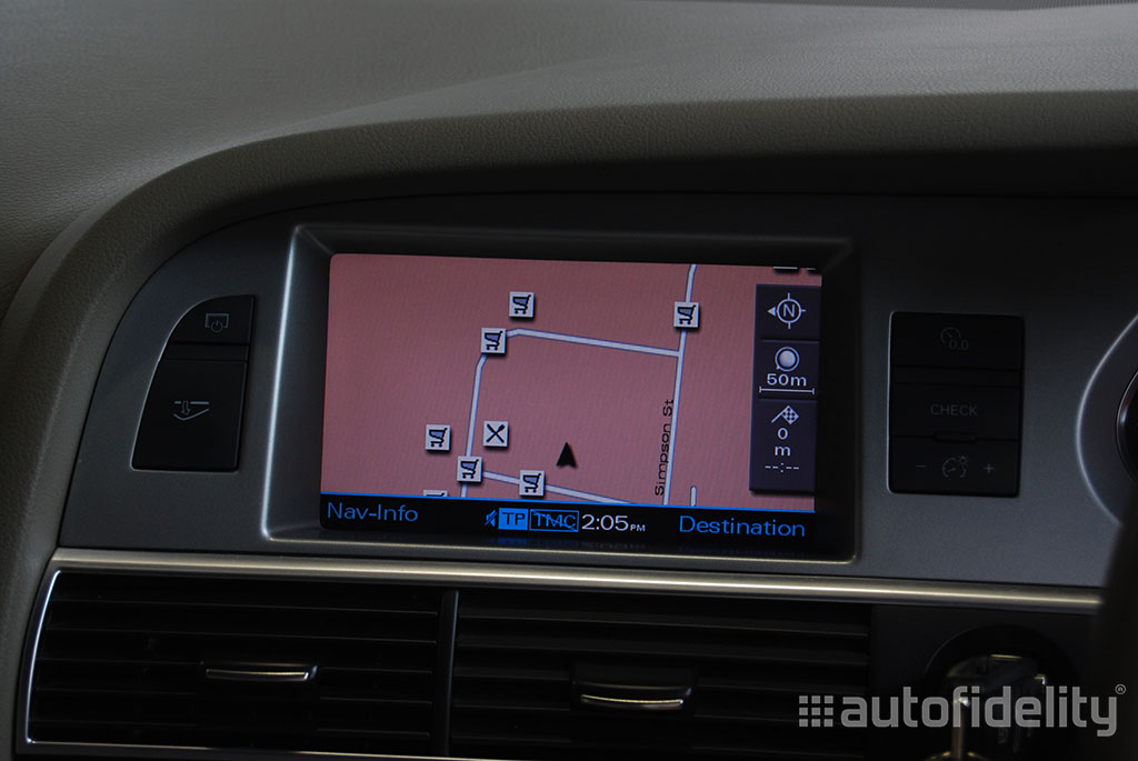 2g mmi integrated dvd based satellite navigation system for audi.