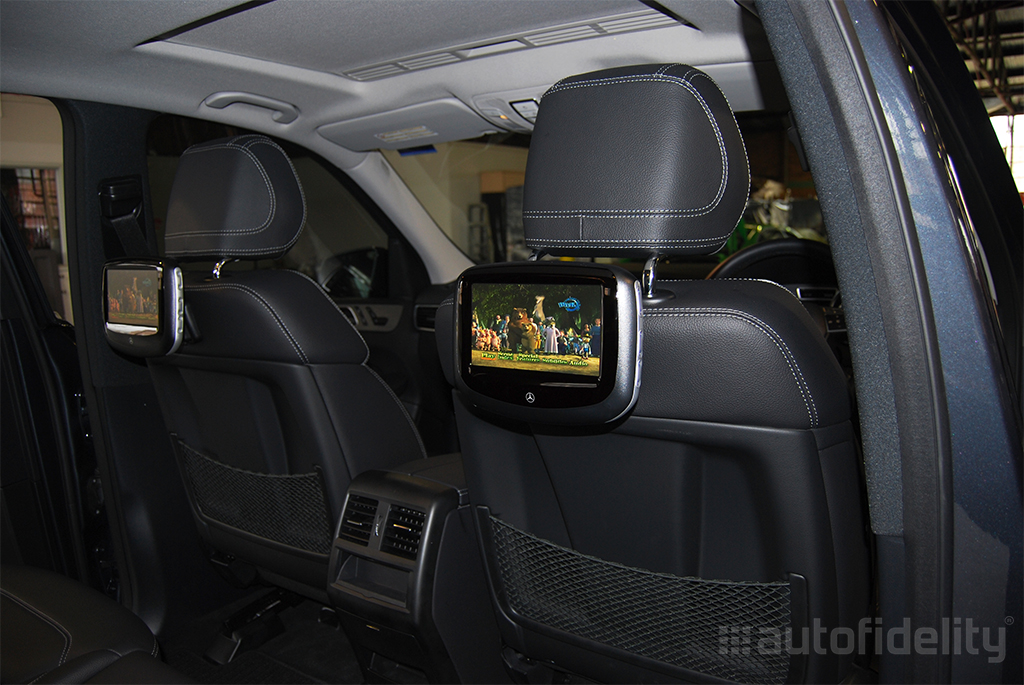 7 inch dual headrest screen rear seat entertainment system for Mercedes benz rear seat entertainment system