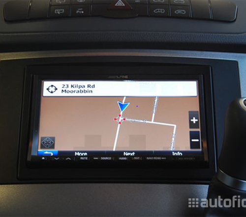 Alpine ina w910r 7 inch integrated touchscreen satellite for How to use mercedes benz navigation system