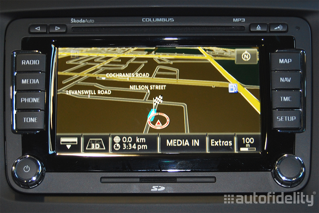 Columbus Integrated Touchscreen Navigation System For