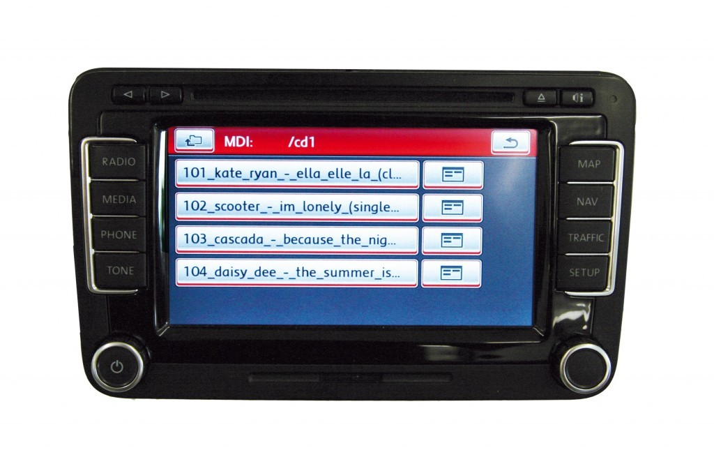 mobile device interface with ipod cable for rns 510 retrofit for volkswagen passat alltrack